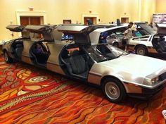 Yep that's right, it's a DeLorean limo.