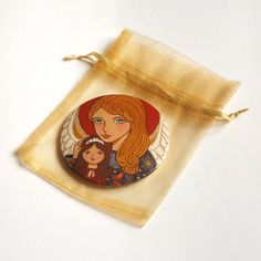 Guardian angel pocket mirror Hand mirror Compact mirror Little girl makeup mirror Little girl purse mirror favors Little girl birthday gift