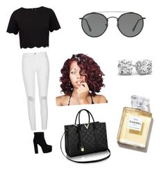 """Untitled #1"" by mogle3083 ❤ liked on Polyvore featuring Ted Baker, River Island and Ray-Ban"
