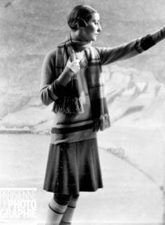 Jean Patou, Winter Sportswear, photographed by Laure Albin Guillot, 1927