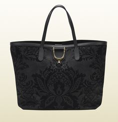 Gucci soft stirrup brocade leather tote.  WANT for fall 2013!