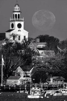 moon over Nantucket