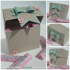 A Stampin' Up! Envelope Box, Envelope Punch Board, Diy Gift Box, Diy Box, Gift Boxes, Diy And Crafts, Paper Crafts, Creative Gift Wrapping, Stamping Up