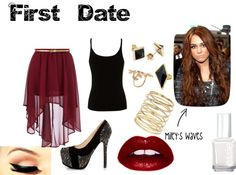 """""""First Date"""" by sarahzimmerling ❤ liked on Polyvore"""