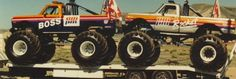 Big Monster Trucks, Monster Jam, 72 Chevy Truck, Classic Monsters, Yesterday And Today, Cool Trucks, Back In The Day, Old School, Old Things
