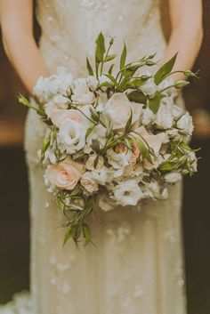 Pretty wedding bouquet; photo: Amber Gress