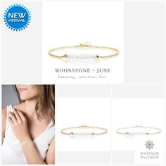 Genuine Moss Aquamarine Bracelet in Gold, Rose Gold or Sterling Silver - Personalized Jewelry Gift for Women - March Birthstone Aquamarine Bracelet, Moonstone Jewelry, Gemstone Bracelets, Silver Bracelets, Green Gemstones, June Birth Stone, Birthstone Jewelry, Matching Necklaces, Personalized Jewelry