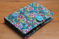 A6 Fabric notepad, notebook cover. Liberty Lifestyle Bloomsbury Gardens print £12.00