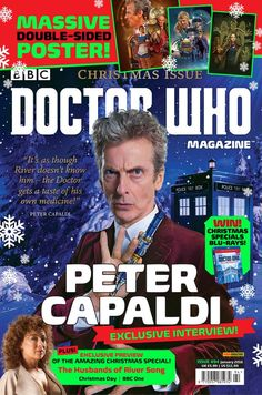 The cover for the upcoming issue of Doctor Who Magazine. Peter Capaldi Doctor Who, New Doctor Who, Doctor Who Magazine, Television Program, Dr Who, Tardis, Mad Men, Embedded Image Permalink, Tv Series