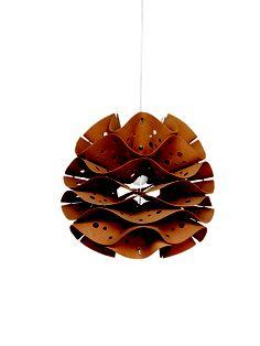 Corky by Mood | Ceilling Lamp  Materials  Rubber Cork  Colours  Natural Colours  Technical  CE E27 /Max. 21w EC  Cable Lenght 2M (transparent)