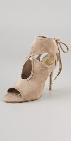 40f3cf13cf3a Aquazzura Sexy Thing Suede Ankle Booties