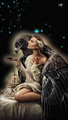 The perfect Woman Eagle Stars Animated GIF for your conversation. Discover and Share the best GIFs on Tenor. Native American Wolf, Native American Images, Beautiful Fantasy Art, Beautiful Fairies, Wolves And Women, Comic Book Girl, Amazing Gifs, Ange Demon, Fantasy Dragon