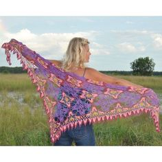 This beautiful shawl by Kristin Omdahl Yarns - Majestic Skies (Free crochet pattern) at WEBS   Yarn.com.