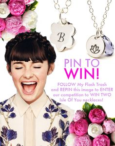 PIN TO WIN! Follow My Flash Trash and pin this image to enter our competition to win TWO beautiful necklaces by Isle Of You! Win and you will receive a flower charm necklace with your initial engraved onto it, and a Lotus flower charm necklace with a pretty jewel. Good luck! Beauty Tips, Beauty Products, Beauty Hacks, Competitions Uk, Treasure Chest, Lotus Flower, Fascinator, Beautiful Necklaces, Beautiful Things