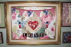 MUMMY KITSCH: Home Made 3D Pictures For The Girls Bedroom x x