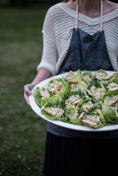 Local Milk | kinfolk may gathering, nashville: l'esprit de la mer,,,Great West Indes salad presentation.