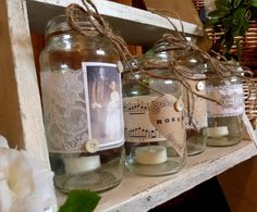 Musical notes on jars for on your piano