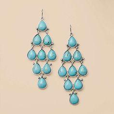 FOSSIL® New Arrivals Jewelry:Women Turquoise Kite Earrings JA5273 $48.00