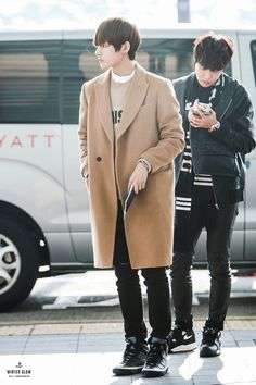 BTS V airport fashion at Incheon Airport [150307]