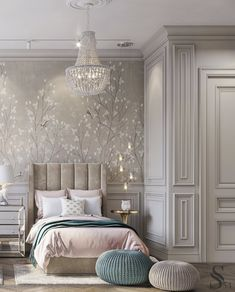 Portfolio: Exquisite apartment in Moscow Girl Bedroom Designs, Room Ideas Bedroom, Home Bedroom, Bedroom Decor, Luxury Kids Bedroom, Dream Bedroom, Home Room Design, Home Interior Design, Deco Kids