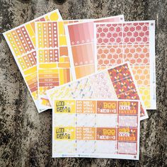 October / Bumblebee Theme Bonanza Essential Kits Sticker Planner // Perfect for Erin Condren Life Planner by FasyShop on Etsy