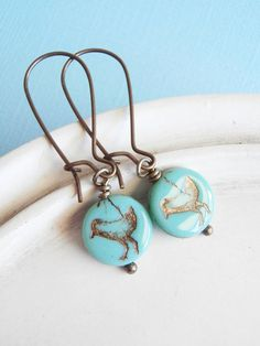 Bird Earrings  Tweet Earrings  Aqua by linkeldesigns on Etsy, $12.00