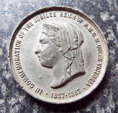 QUEEN VICTORIA 1887 GOLDEN JUBILEE MEDAL / MEDALLION - CROYDON Croydon, Queen Victoria, Badges, Personalized Items, Ebay, Badge