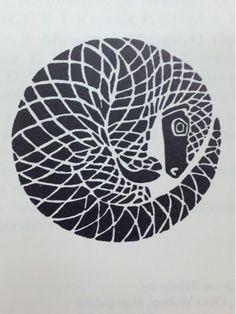 "thunderboltjackson: Loving this pangolin illustration in Jonathan Kingdon's ""East African Mammals"" (Vol IIB, 1974)."