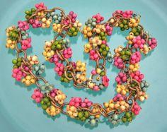 cut glass necklace vintage - Google Search