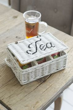 wicker tea caddy
