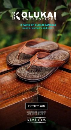 068fa876dfb Enter to Win (3) pair of Olukai® Sandals for the whole family–
