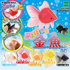 Kidsroom: [Gacha gacha complete set]Soft goldfish capsule collection set of 5 Cool Fidget Toys, Cool Toys, Baby Girl Toys, Toys For Girls, Kawaii Diy, Kawaii Stuff, Pictures Of Sea Creatures, Toy Bins, Kids Tents