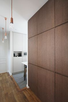 Bois Modern Wall Paneling, Wooden Panelling, Wooden Wall Panels, Wood Panel Walls, Wooden Walls, Wood Cladding Interior, Wall Cladding, Wall Design, House Design