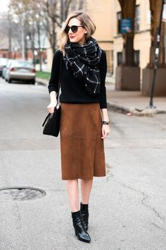 A Blogger-Approved Way To Style A Suede Skirt   Le Fashion   Bloglovin'