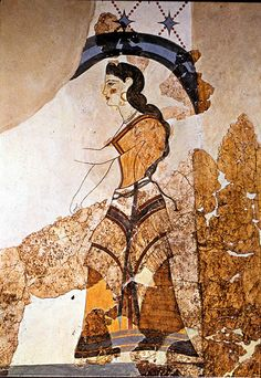House of Ladies Fresco, Akrotiri, Thera