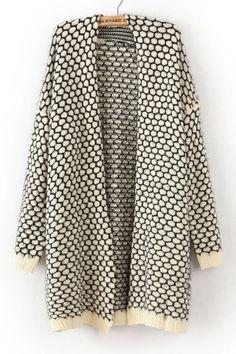 Honeycomb Grain Cardigan Sweater