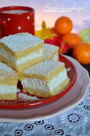 Barbi konyhája: Citromos túrós szelet Lemon Curd, Cornbread, French Toast, Cheesecake, Deserts, Food And Drink, Pudding, Sweets, Meals