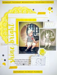 Kaisercraft: My Year My Story collection: Shine Bright layout by Amanda Baldwin
