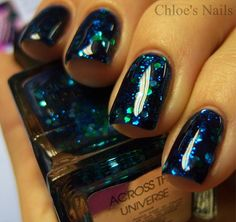 Chloe's Nails: Lippman Across the Universe Funky French. Love this polish...maybe only on one nail though.