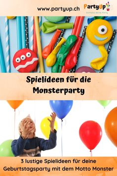 Monsterparty Spielideen 3 lustige Spiele mit Anleitungen für deine Party / Geburtstag zum Motto Monster für Kinder in jedem Alter. Party Box, Monster Party, Diy For Kids, Blog, Alter, Motto, German, Funny Games, Wrapping Papers