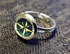 """Ringe - Cabochon-Ring """"Kompass"""" - ein Designerstück von Soulmate-Works bei DaWanda"""