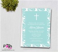 Leaf Baptism Invitation