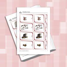 Třísložkové karty - zvířátka ze statku Phone, Telephone, Mobile Phones