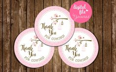 Birdie favor tags baby shower tags baby bird birthday tags