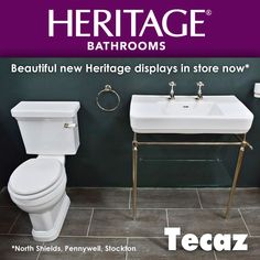 Beautiful new Heritage Bathrooms displays at Tecaz! Come in store to see over 250 bathroom ideas across our showrooms!