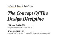 AIGA Design Educators Community | Weekly Featured Dialectic Story: The Concept Of The Design Discipline