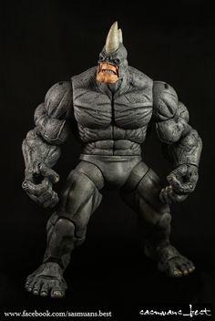 marvel rhino images | Marvel Legends Custom Rhino Spiderman DC Action Figure | eBay