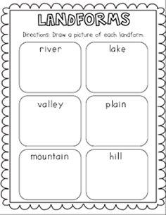 21 Landforms for Kids Activities and Lesson Plans -Landforms Freebie - Teach Junkie