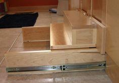 Toe Kick Step Stool Space Saving Design With Storage