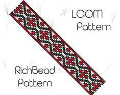 Flower bead loom bracelet pattern, PDF seed beaded bracelet, DIY beading, Instant download, Bookmark pattern,  Digital square stitch jewelry